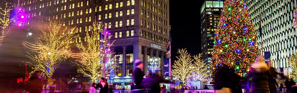Ice Skating during Winter at Campus Martius